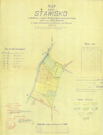 Plan kolonii Stawisko