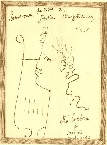Prezent Jeana Cocteau dla Jarosława Iwaszkiewicza